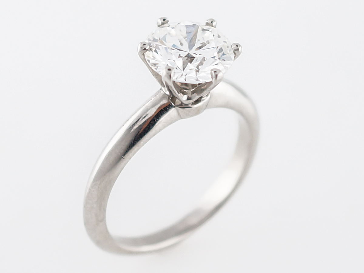 49ce9a609 Engagement Ring Modern Tiffany & Co. 2.05 GIA Round Brilliant Cut ...