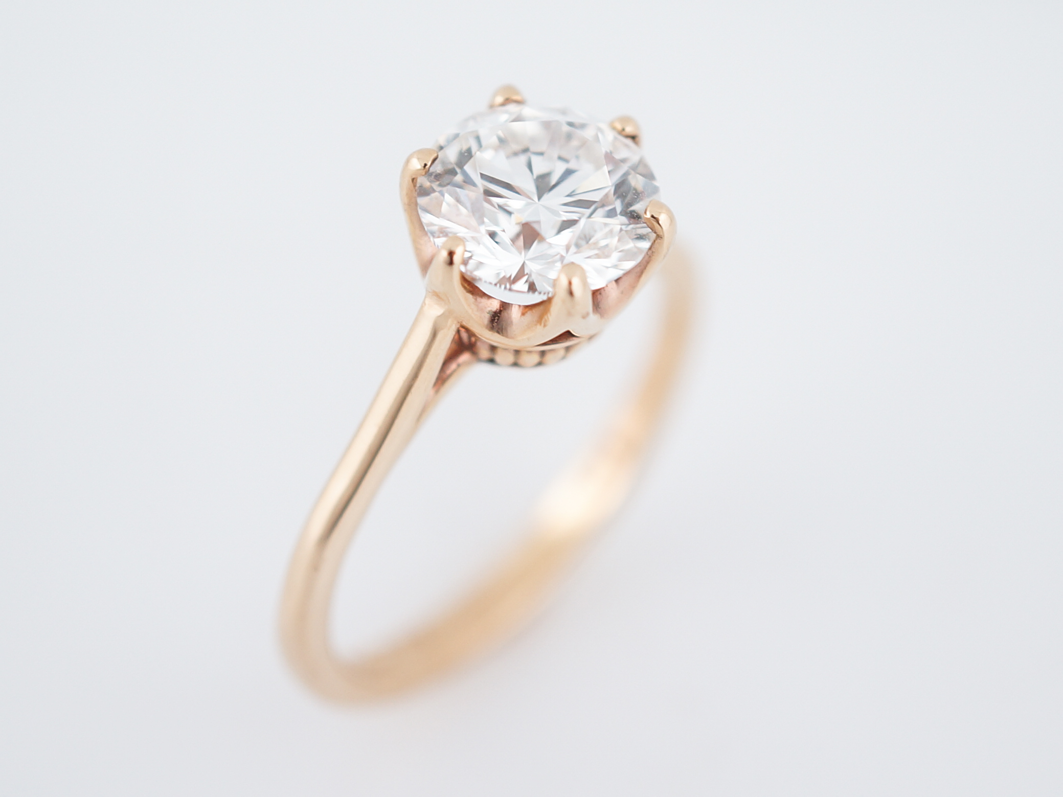 rose image gold f rings itm pave princess diamond cut engagement ring halo ct is loading