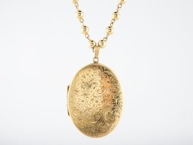 Antique victorian necklace large oval locket in 14k yellow gold antique victorian necklace large oval locket in 14k yellow gold filigree jewelers aloadofball Images