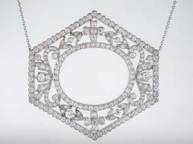 Antique Necklace Art Deco 5.00 Old European Cut Diamonds in Platinum