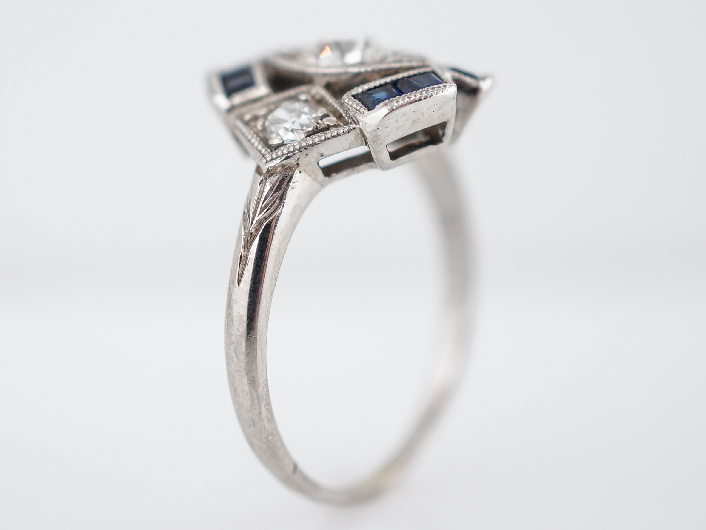 product engagement handcrafted ring deakin circa art antiques deco jewellery rings platinum diamond main in karen