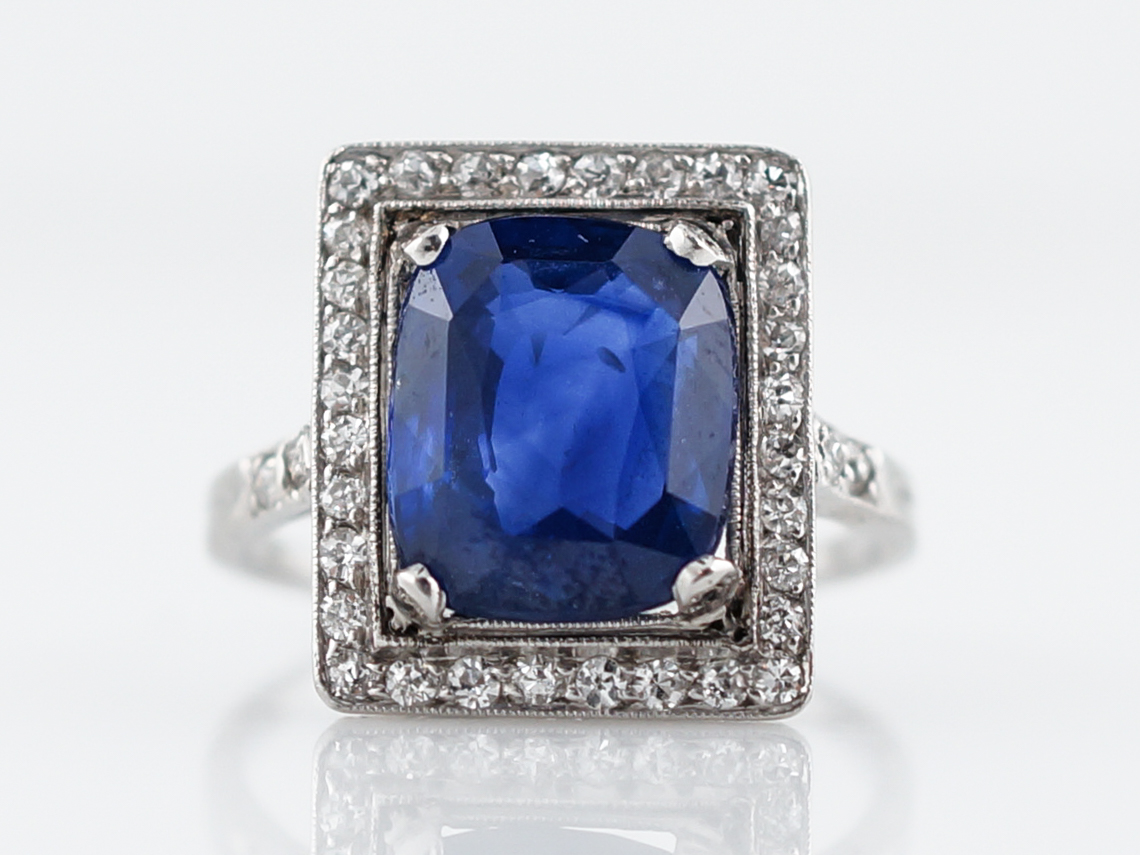 jewelry ring cushion s index and cut sapphire diamond diara