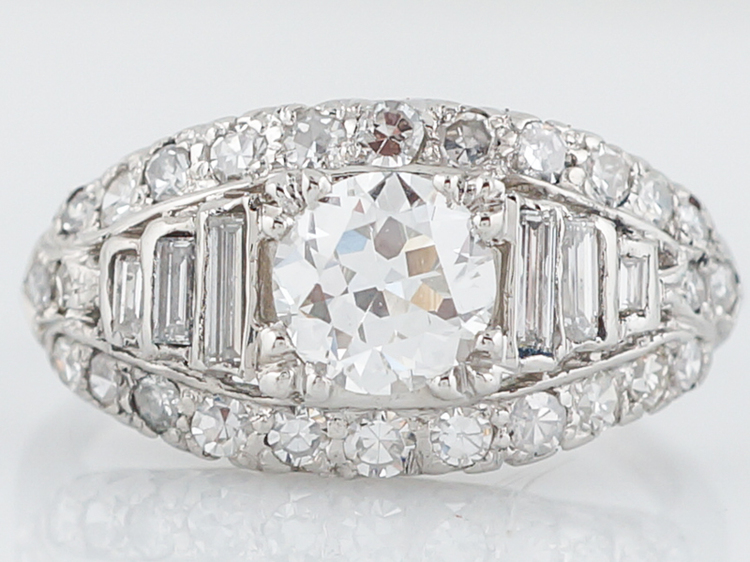 Incredible Antique Diamond Engagement Ring Art Deco