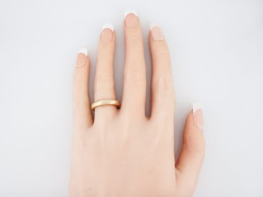 Modern Wedding Band Tiffany & Co in 14k Yellow Gold