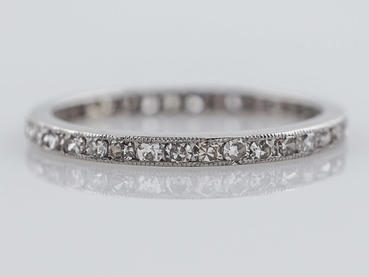Sold Antique Eternity Wedding Band Art Deco 57ct