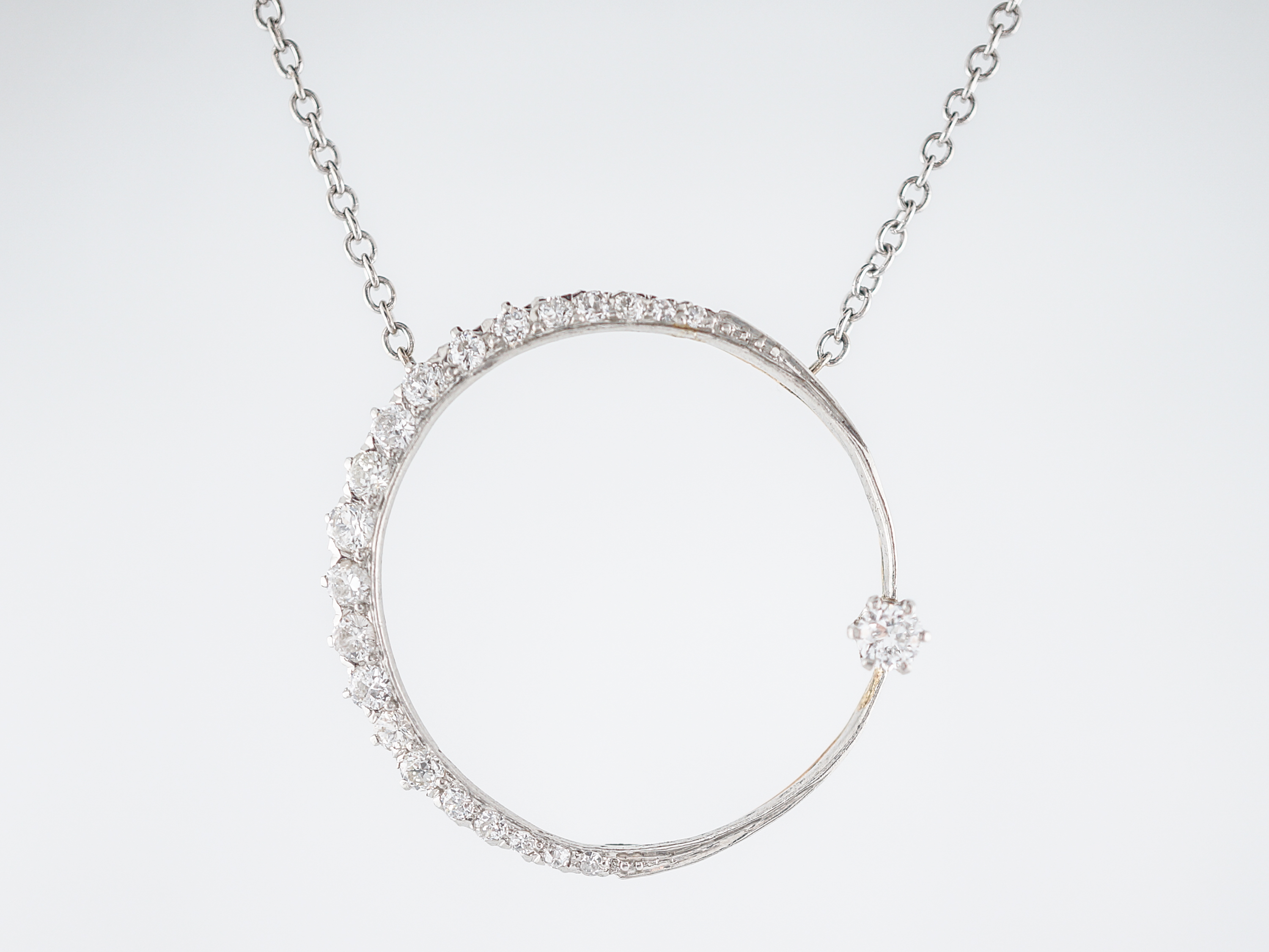 bezel iillx brilliant set necklace diamond round