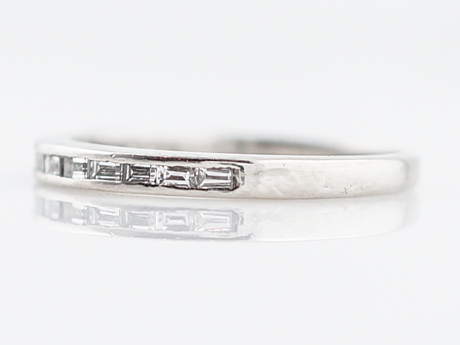 Wedding Band Modern .33 Baguette Cut Diamonds in Platinum – Filigree ...