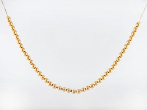 Antique Art Deco Beaded Necklace in 18k Yellow Gold-1