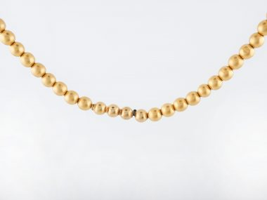 Antique Art Deco Beaded Necklace in 18k Yellow Gold-2