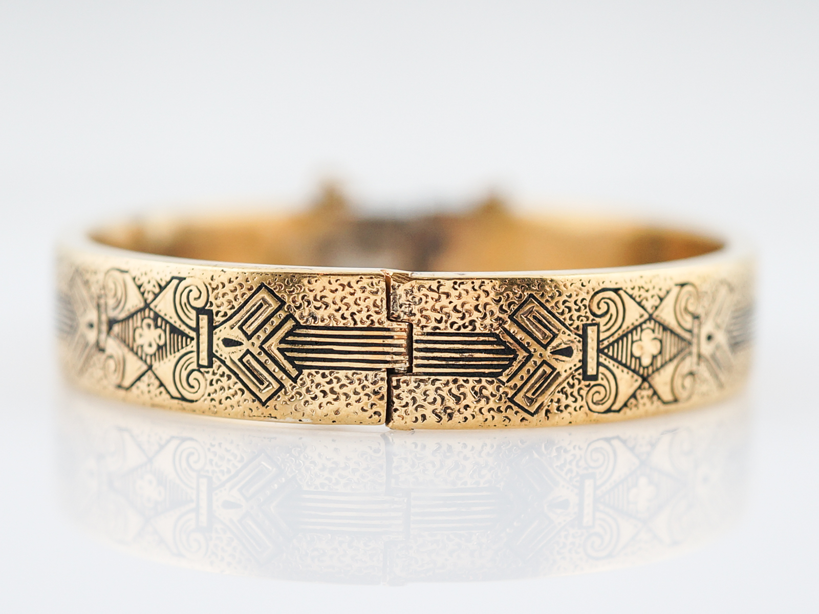 bangle node bangles solid bracelets karat bracelet greek key gold style antique circa classical