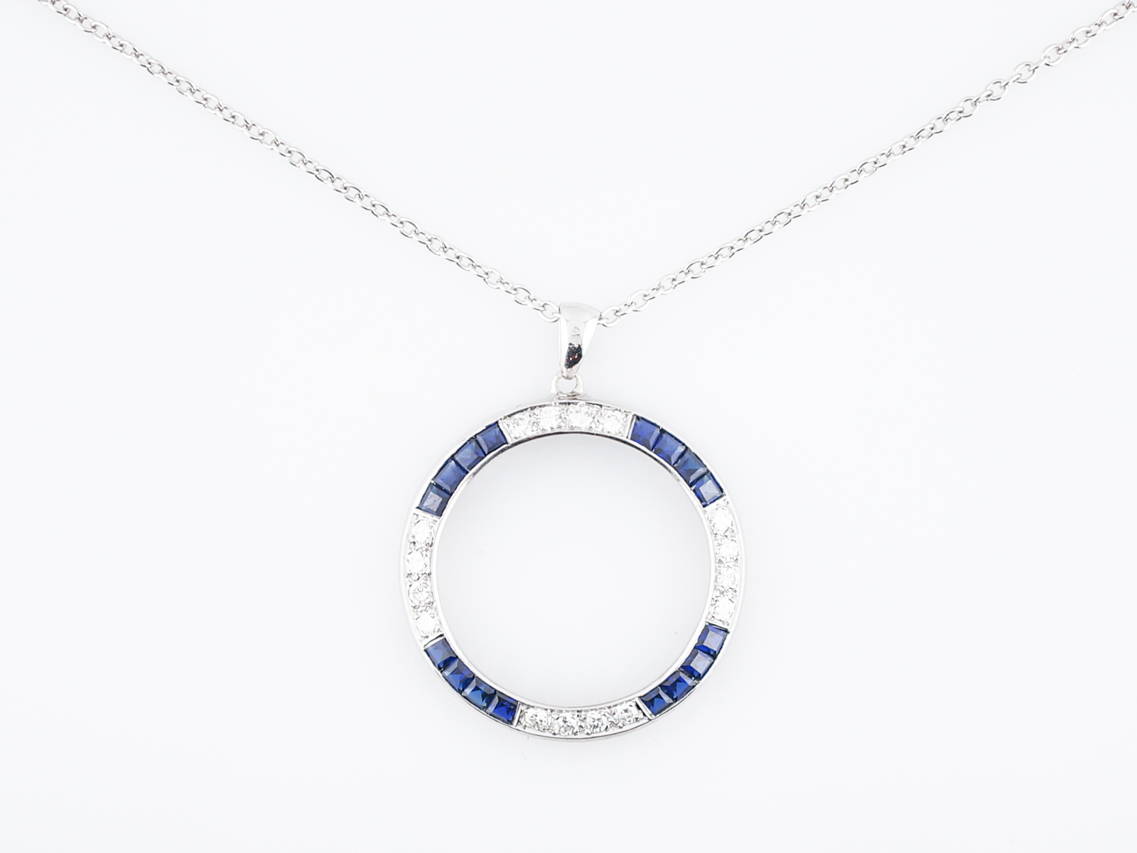 and sapphire necklace silver necklaces star sterling cabochon genuine white blue