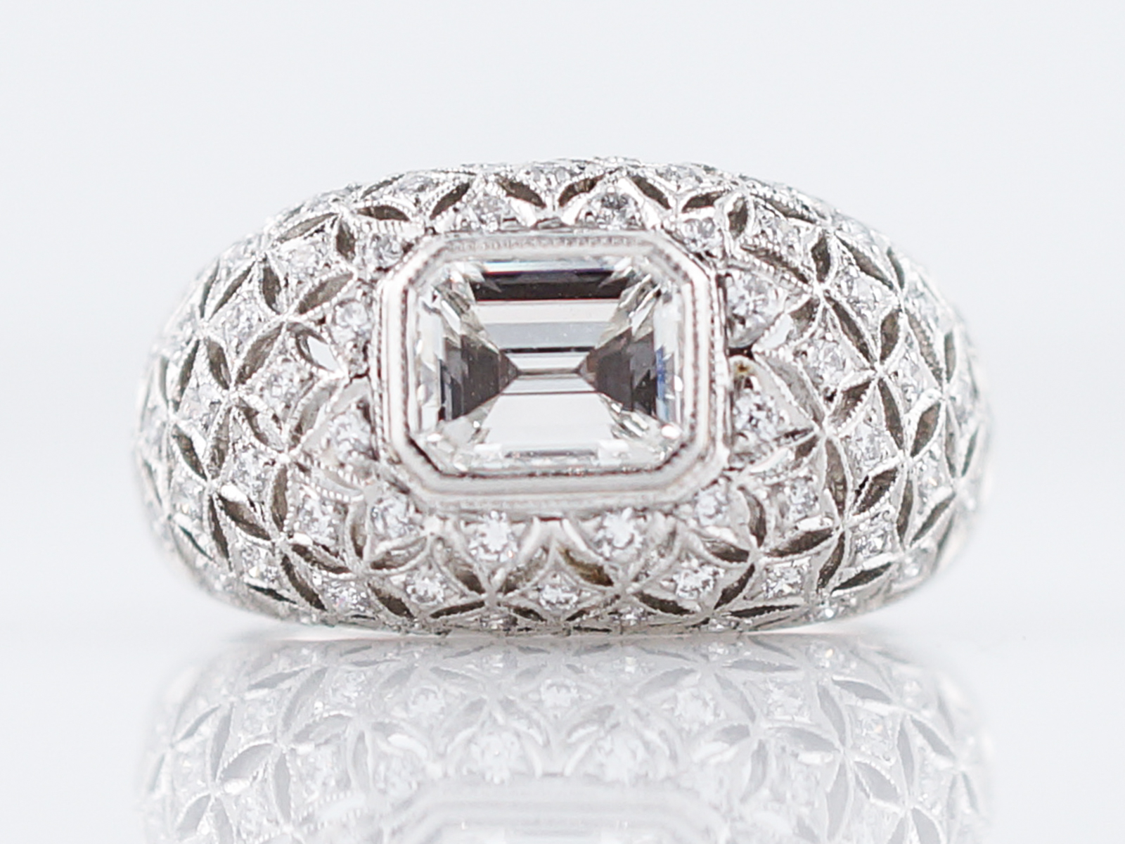 engagement ring modern 1 00 emerald cut in