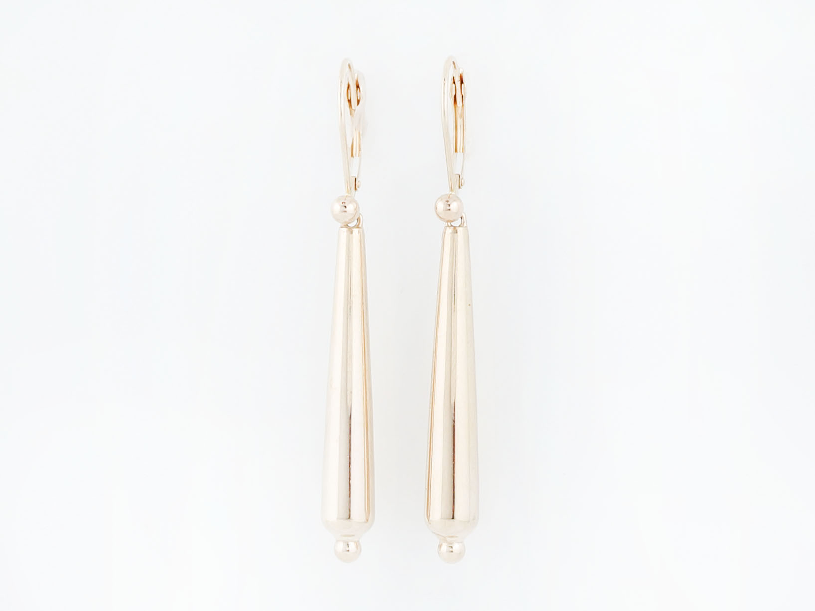 Modern Dangle Drop Earrings in 14k Yellow Gold-1