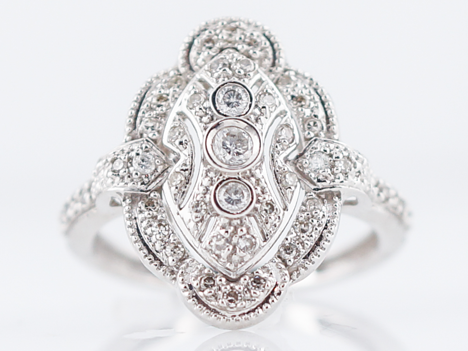 product platinum diamond cut deco right art rings brilliant round in antique ring hand
