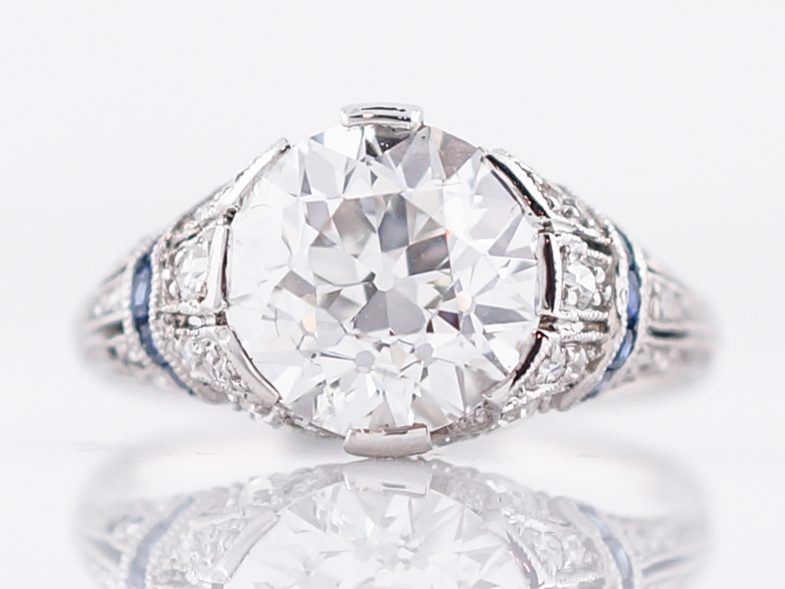 diamond engagement micro rings pave meets vintage cut ring quilted modern c center asscher