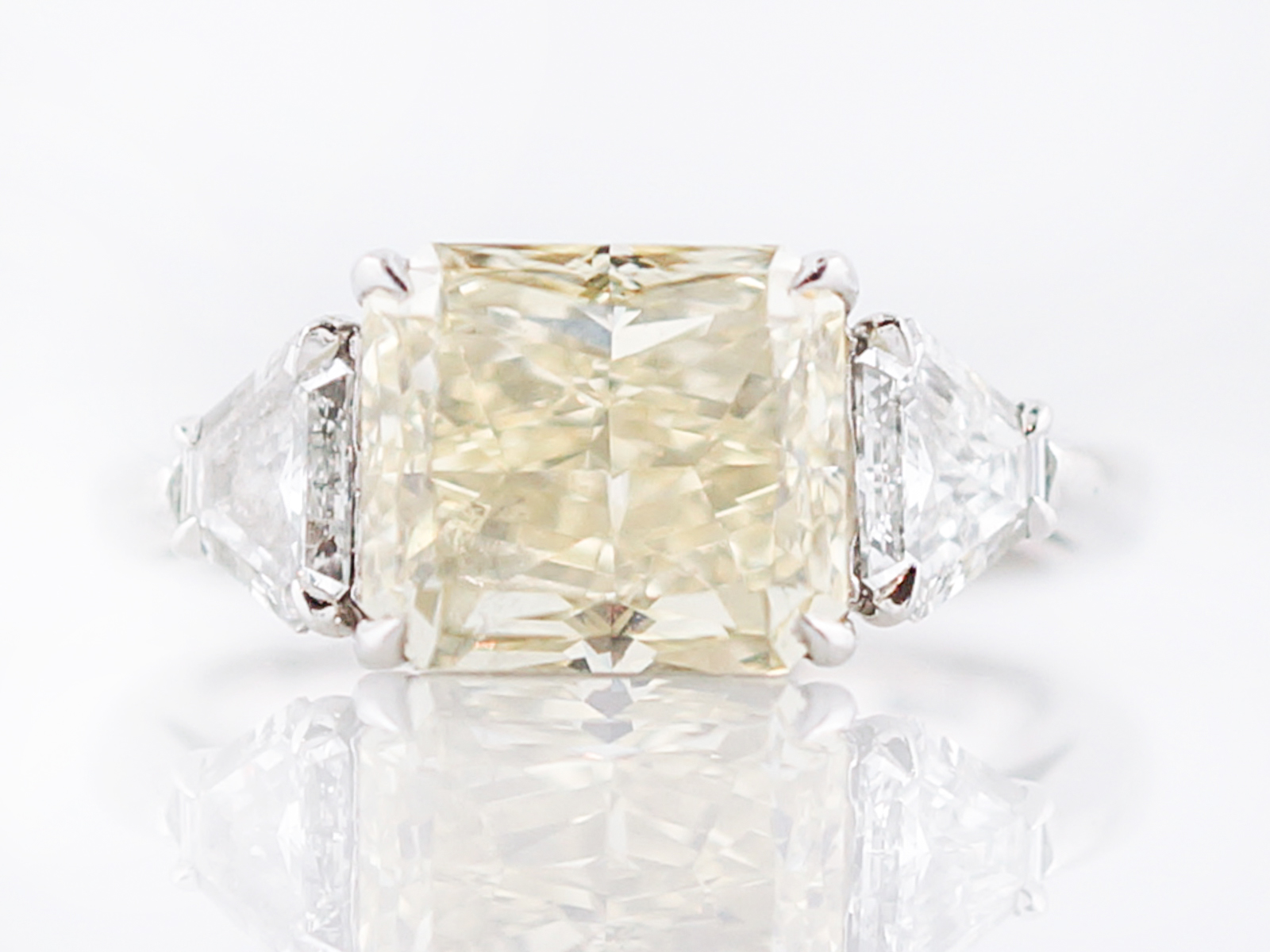 diamond gia home rings cut modern rectangular product in engagement yellow platinum ring