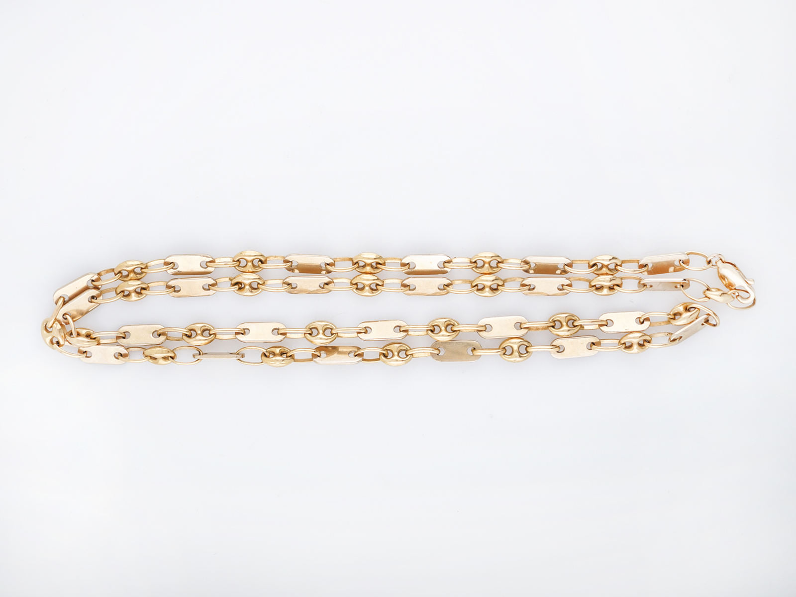 0ace9e8fe Vintage Necklace Mid Century Chain in 14k Yellow Gold