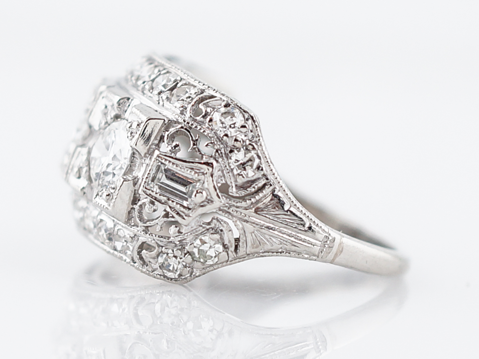 brilliant cut hand platinum jewellery right round antique art rings ring deco diamond product in