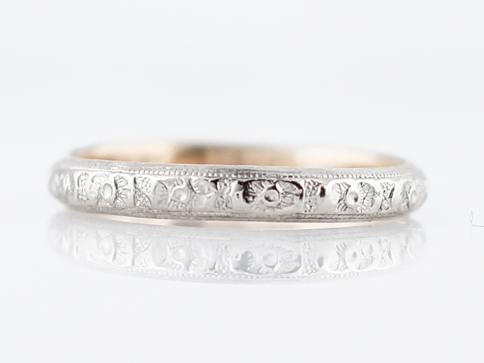 Filigree Wedding Ring White Gold
