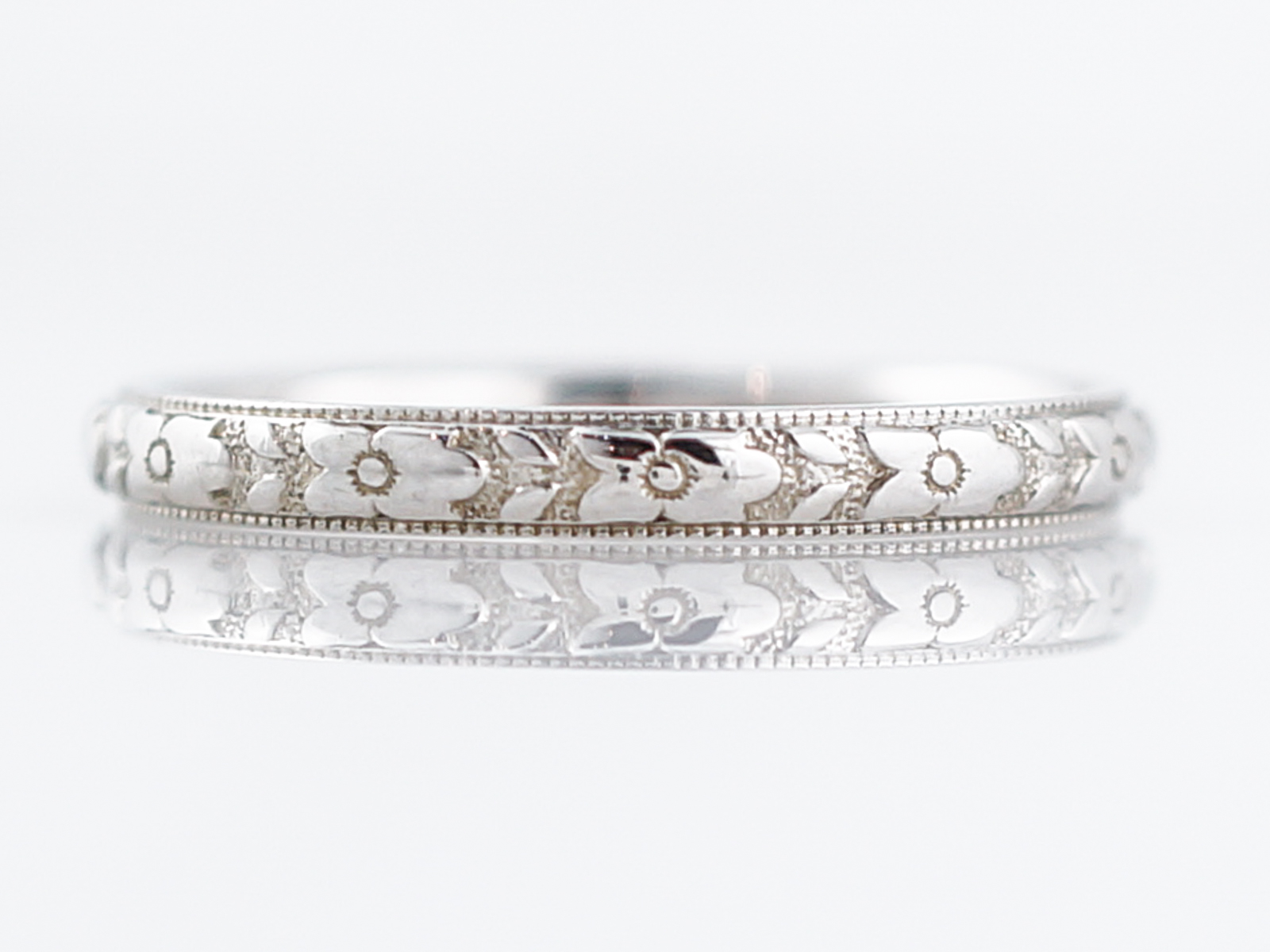 bands product band flat white gold wedding