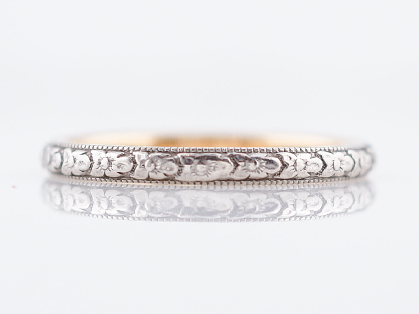 product wedding blossom bands antique art home orange deco white and platinum band in yellow gold