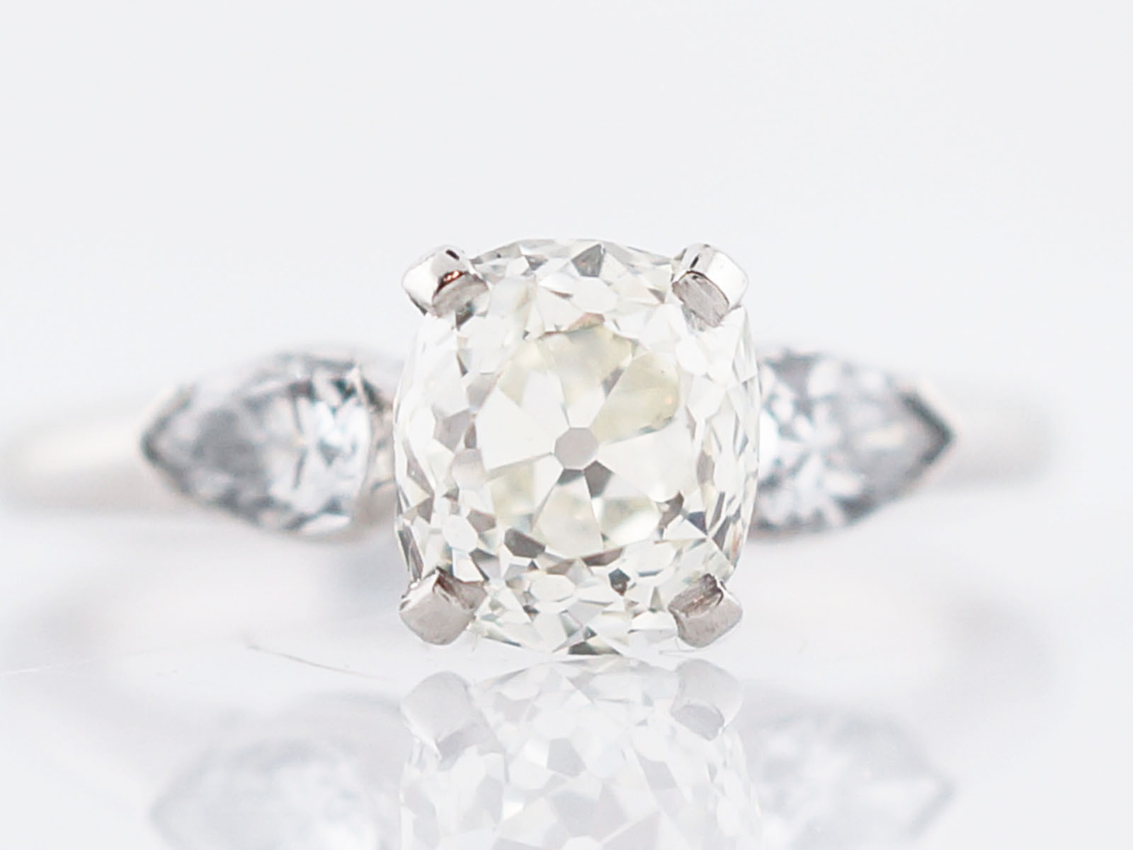 pave rings engagement with shank white cut platinum ring diamond tw ct in prong cushion classic