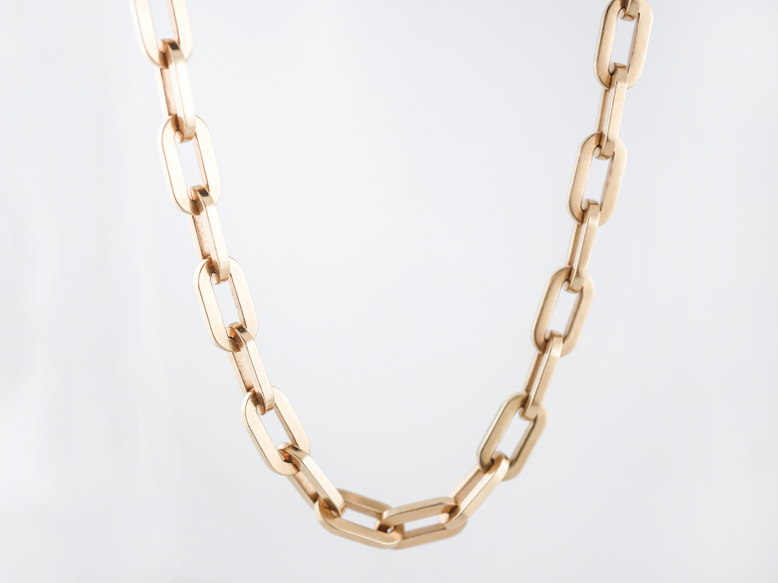 Modern Chain Necklace in 14k Yellow Gold-1