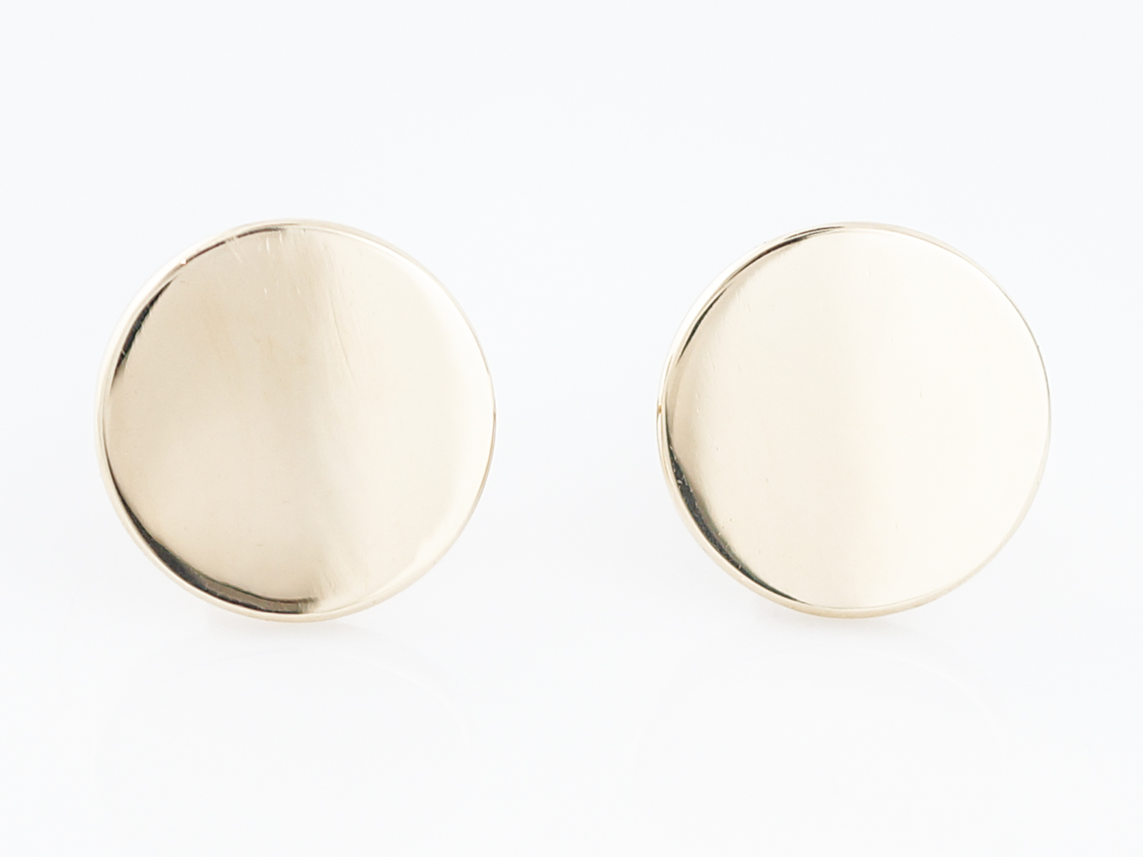 Modern Cufflinks in 14k Yellow Gold-1