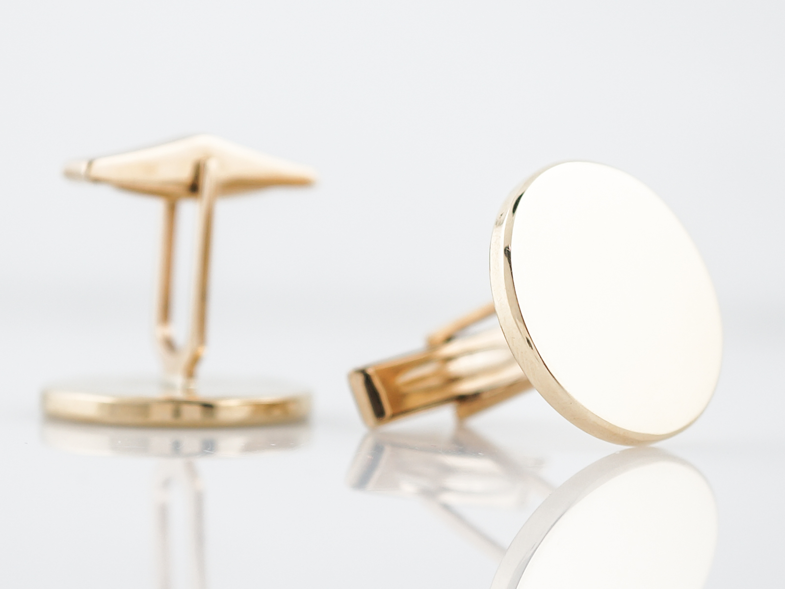 Modern Cufflinks in 14k Yellow Gold-2