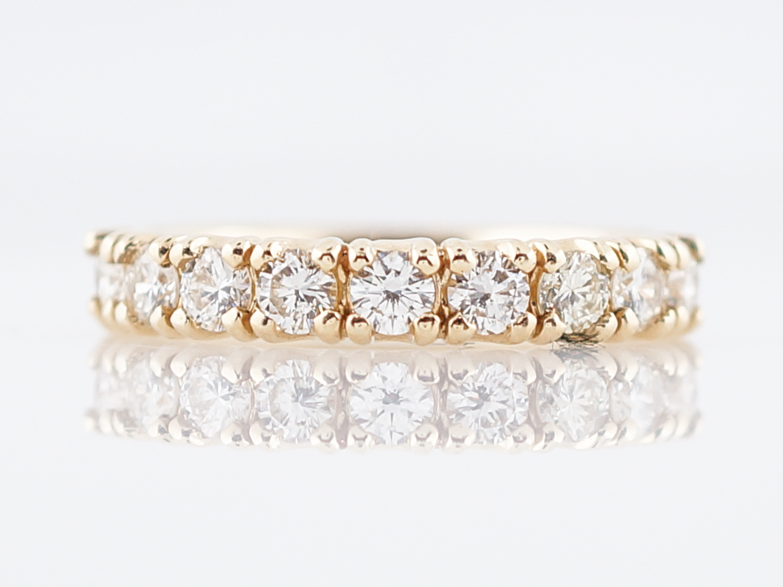 van band round baguette bands wedding cut arpels and cleef all jewelry diamond eternity ring