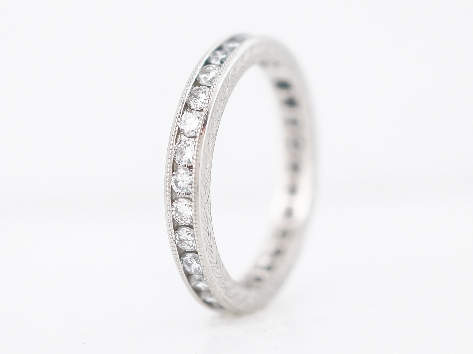 Wedding Band Modern 1.20 Round Brilliant Cut Diamonds in Platinum-3