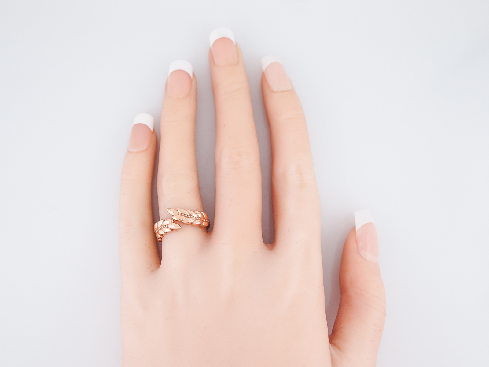Feather Ring Modern in 14k Rose Gold