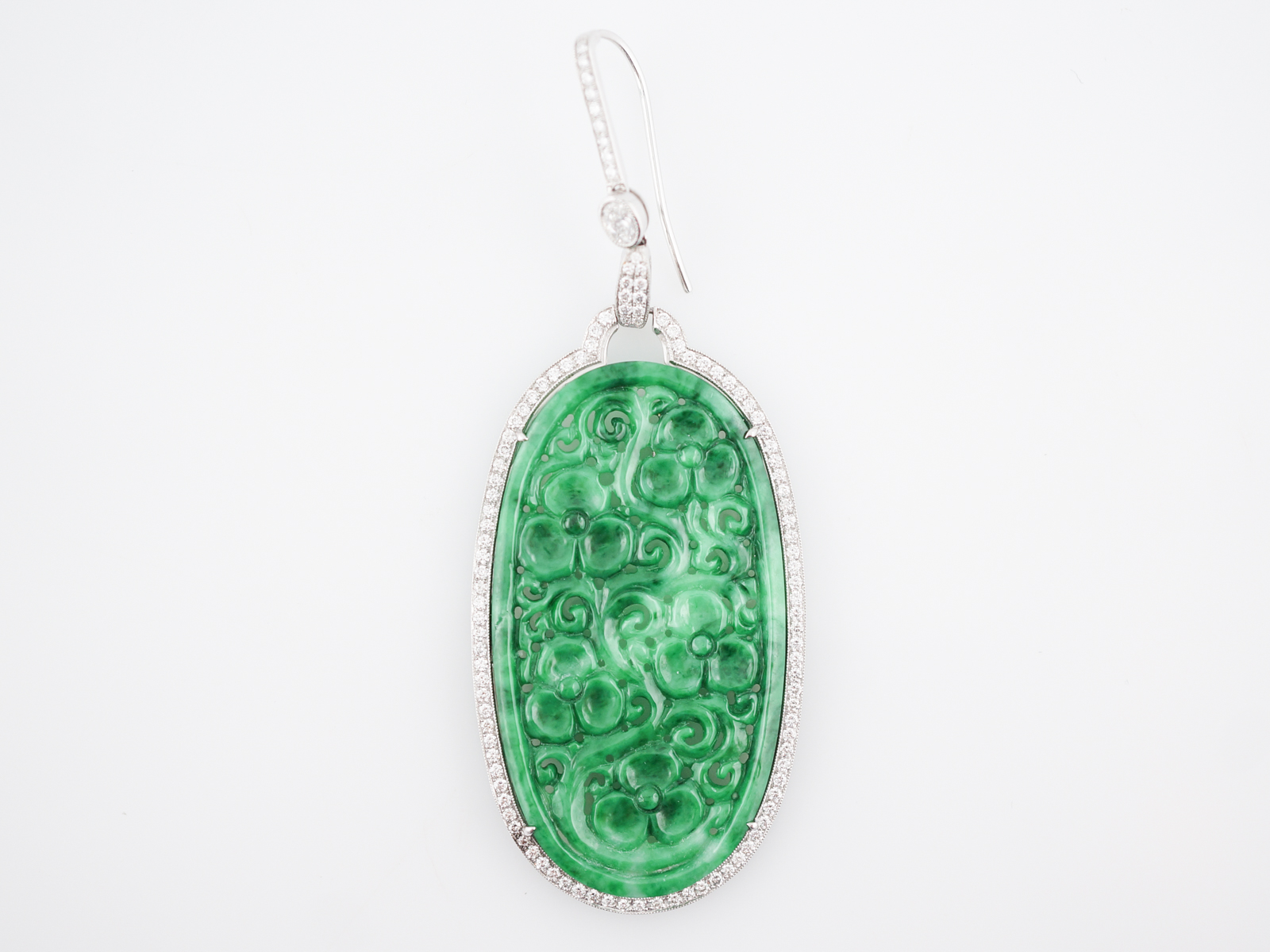 hand jewelry amazon natural buddha pendant best necklace carved a jadeite com chinese dp green big grade ice jade