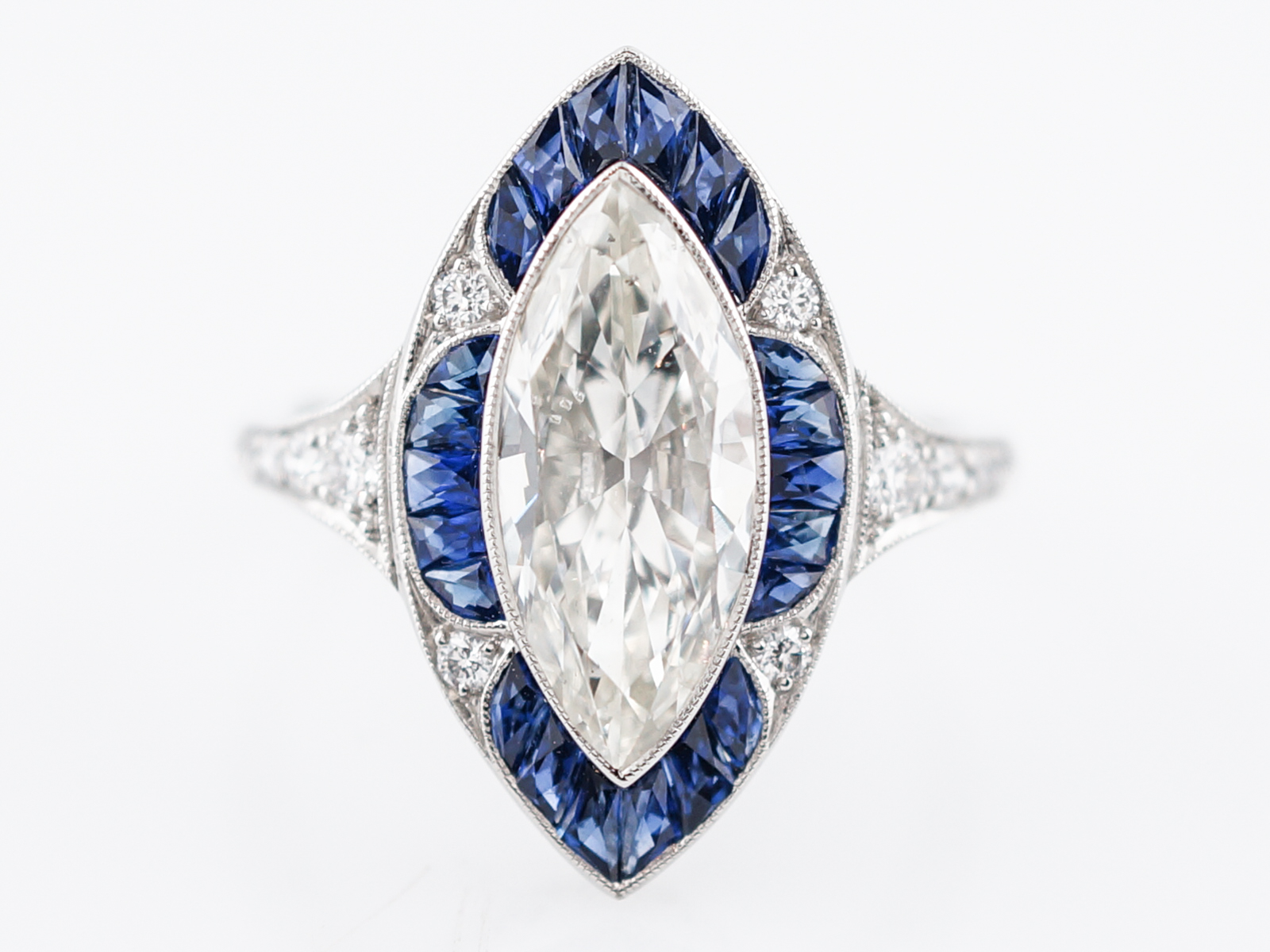 diamond french your teacher sapphire ring engagement halo blue