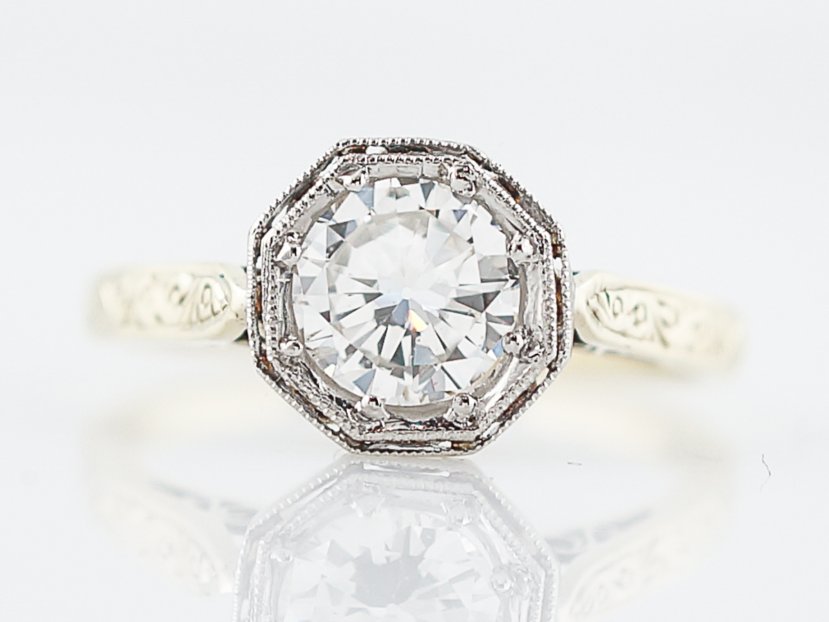 Art Deco European Cut Engagement Rings