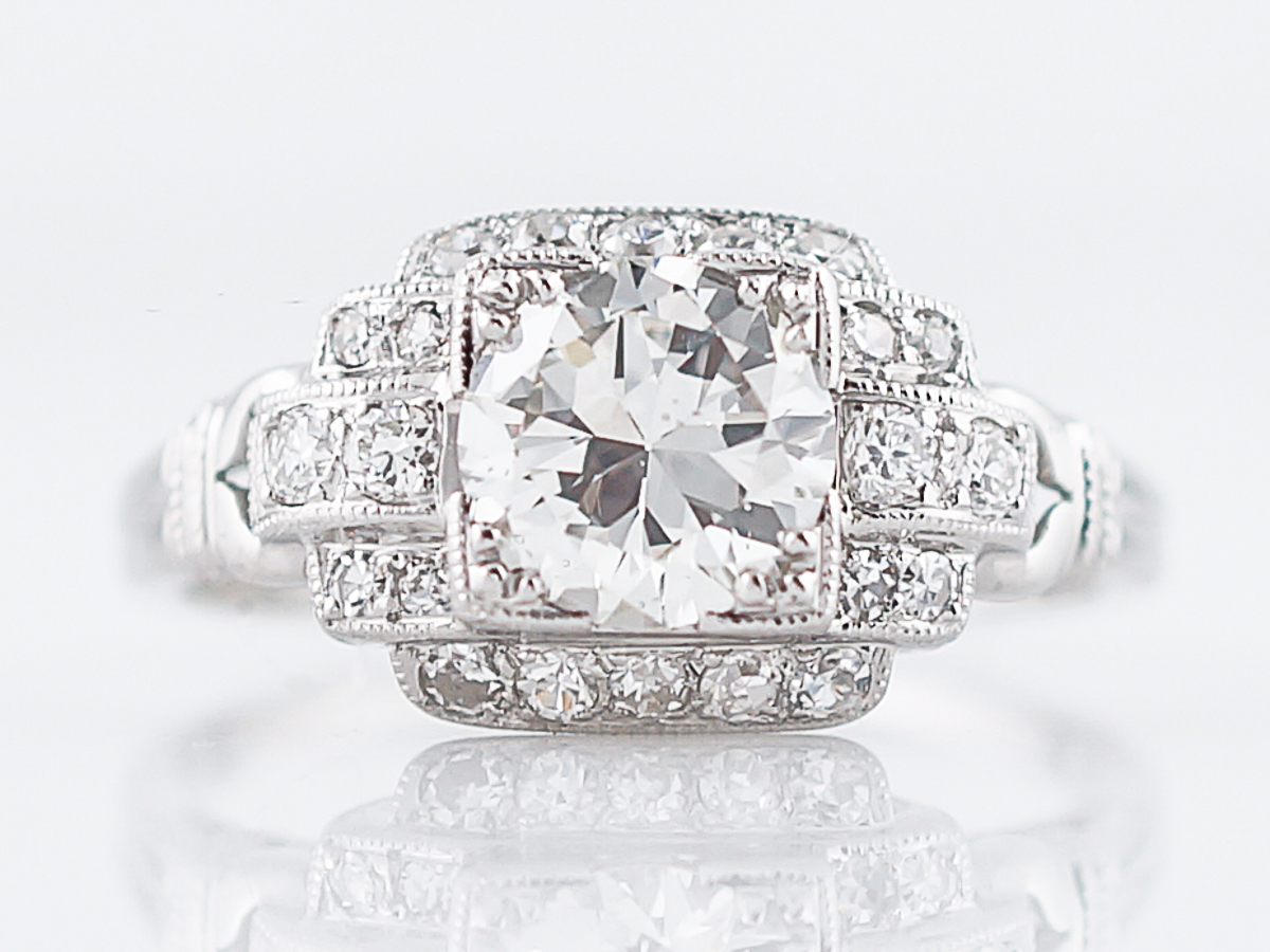 Sold Antique Engagement Ring Art Deco 95ct Old