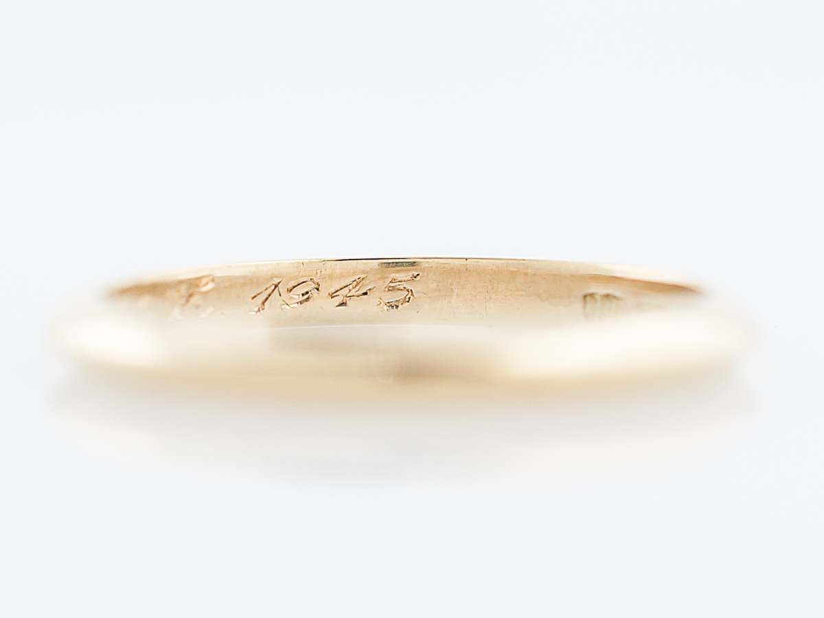 Antique wedding band retro tiffany co in 18k yellow gold home uncategorized junglespirit Gallery