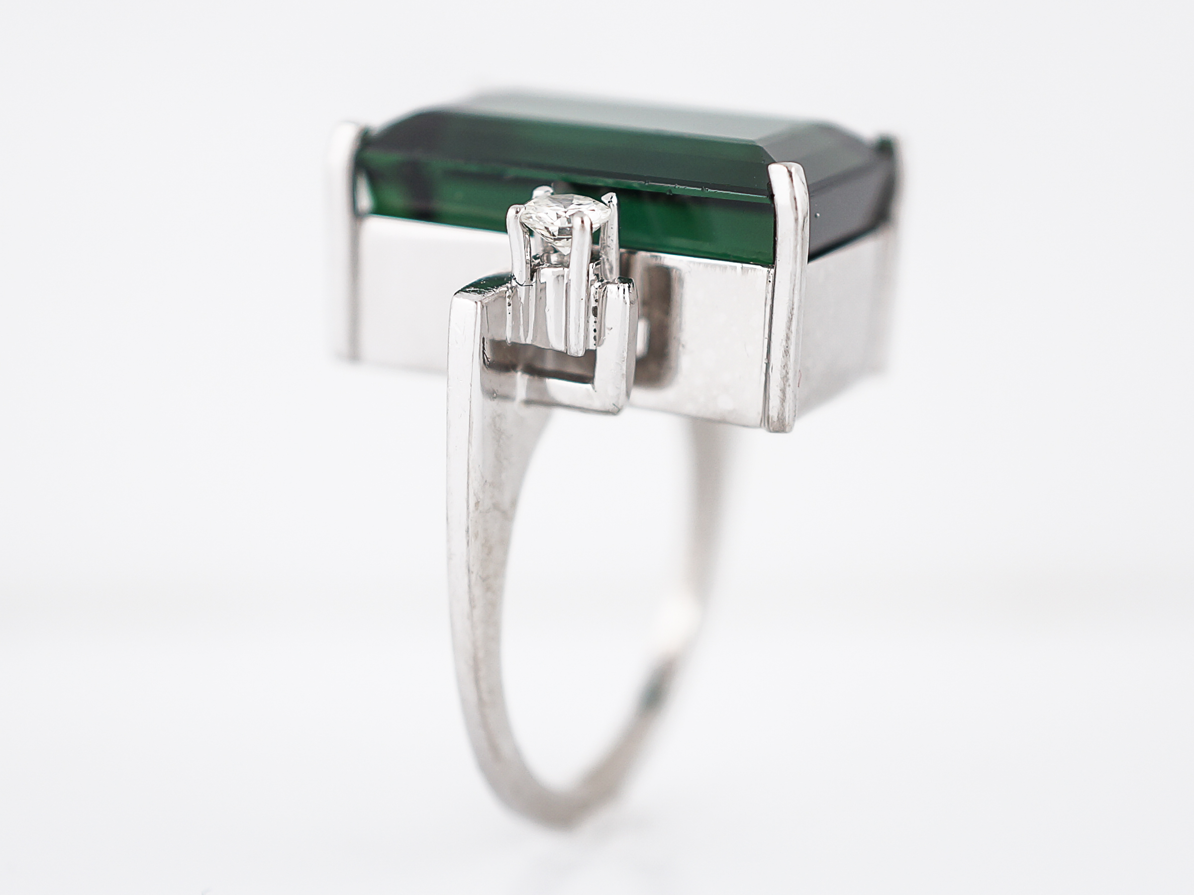 rings luxury carat women cut brilliant split diamond ainoushi from sona halo item emerald simulated for engagement sterling wedding rectangle created in silver princess shank