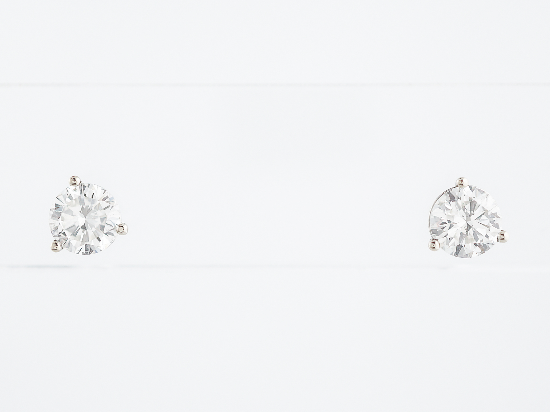 en carat earrings diamond trilogy cl baunat real pl platinum in