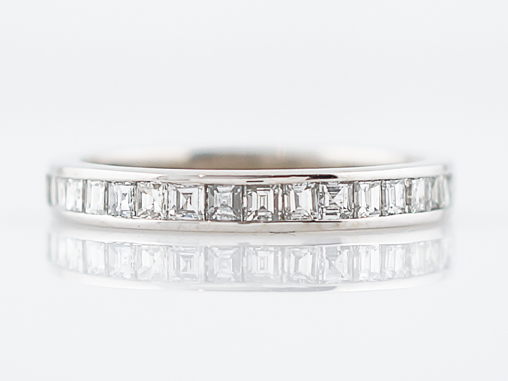 2236 wedding band modern 64 square emerald cut diamonds in 14k white gold - Emerald Cut Wedding Ring