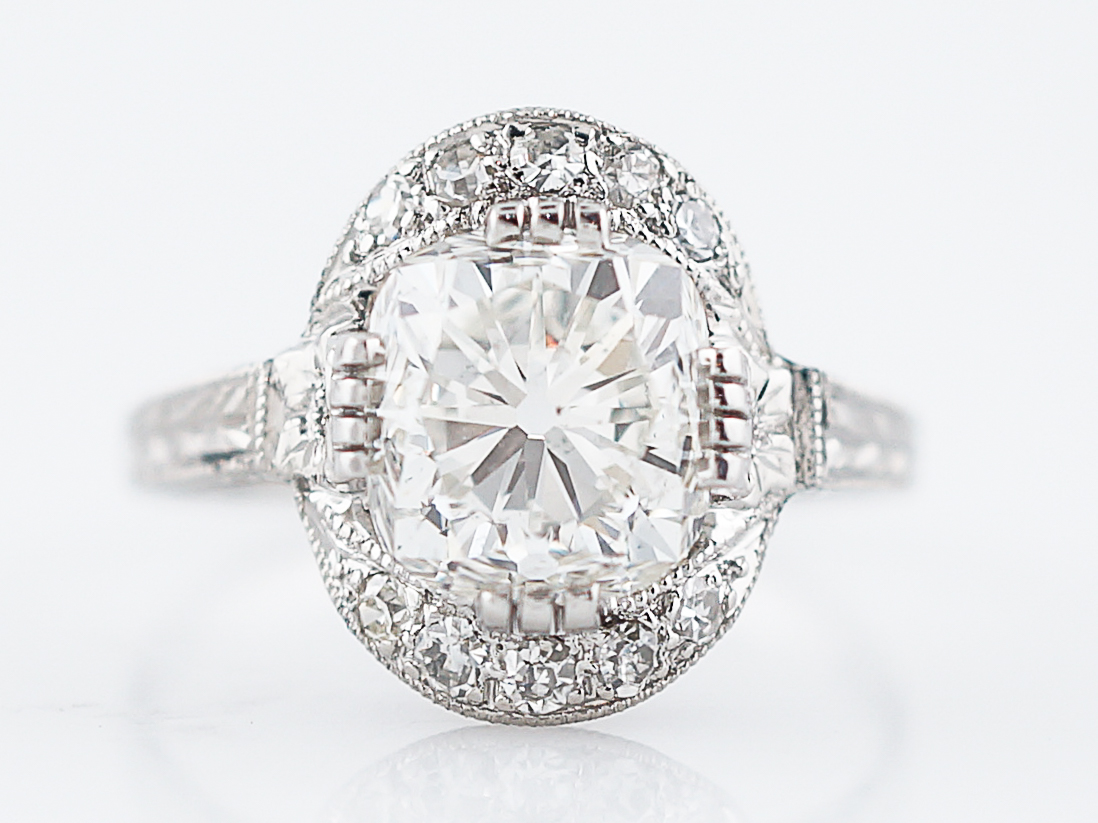 moissanite halo vintage engagement ring solitaire antique accent diamond rings