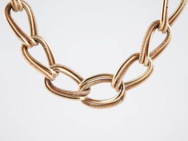Necklace Modern Chain in 14k Yellow Gold