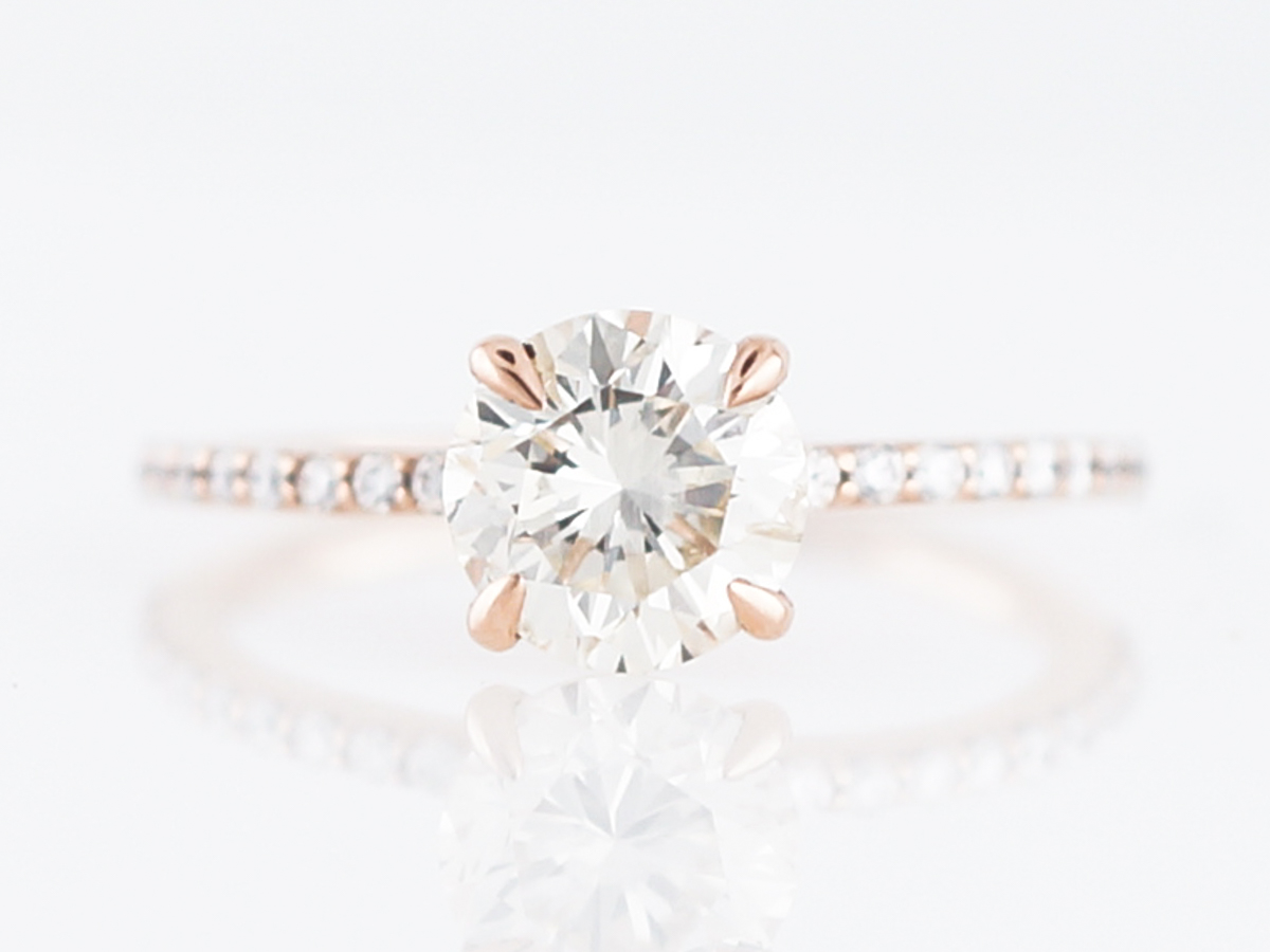 1.5 Carat Solitaire Diamond Engagement Ring in Rose Gold