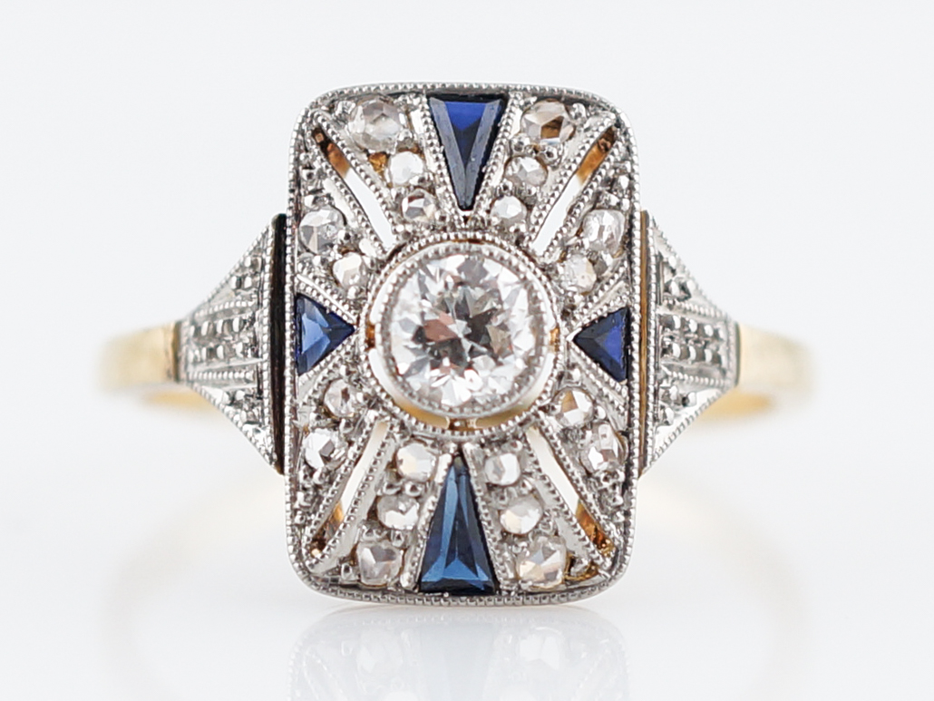 deco art color inspired engagement cocktail size gatsby royal bling ag sa ring great sapphire cz jewelry