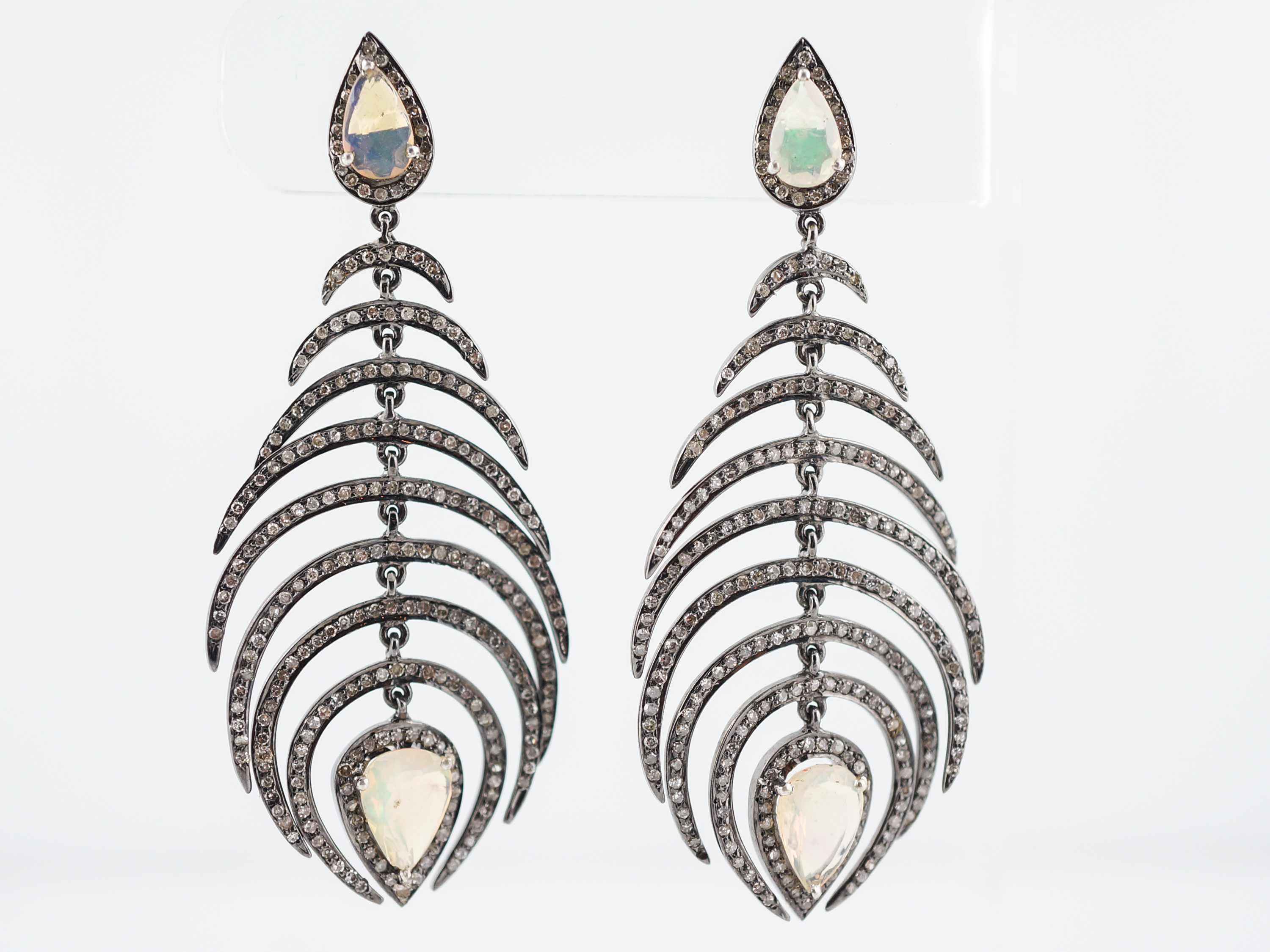 gallery aurelie lyst jewelry single gold drop metallic bidermann floral earrings athina in earring