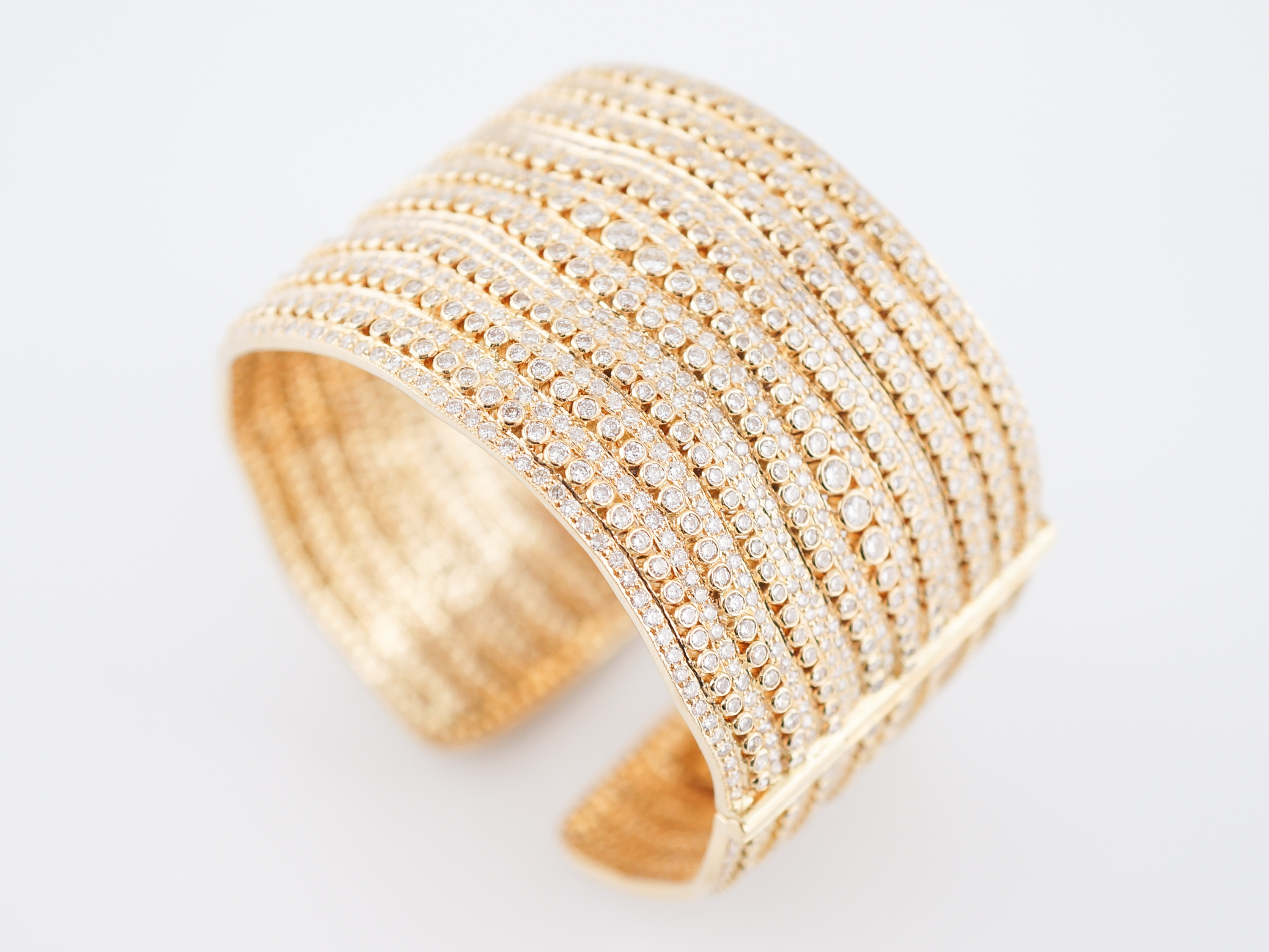 unusual handmade with bangles yellow bespoke brushed products gold unique bangle finish and modern russian style bracelet