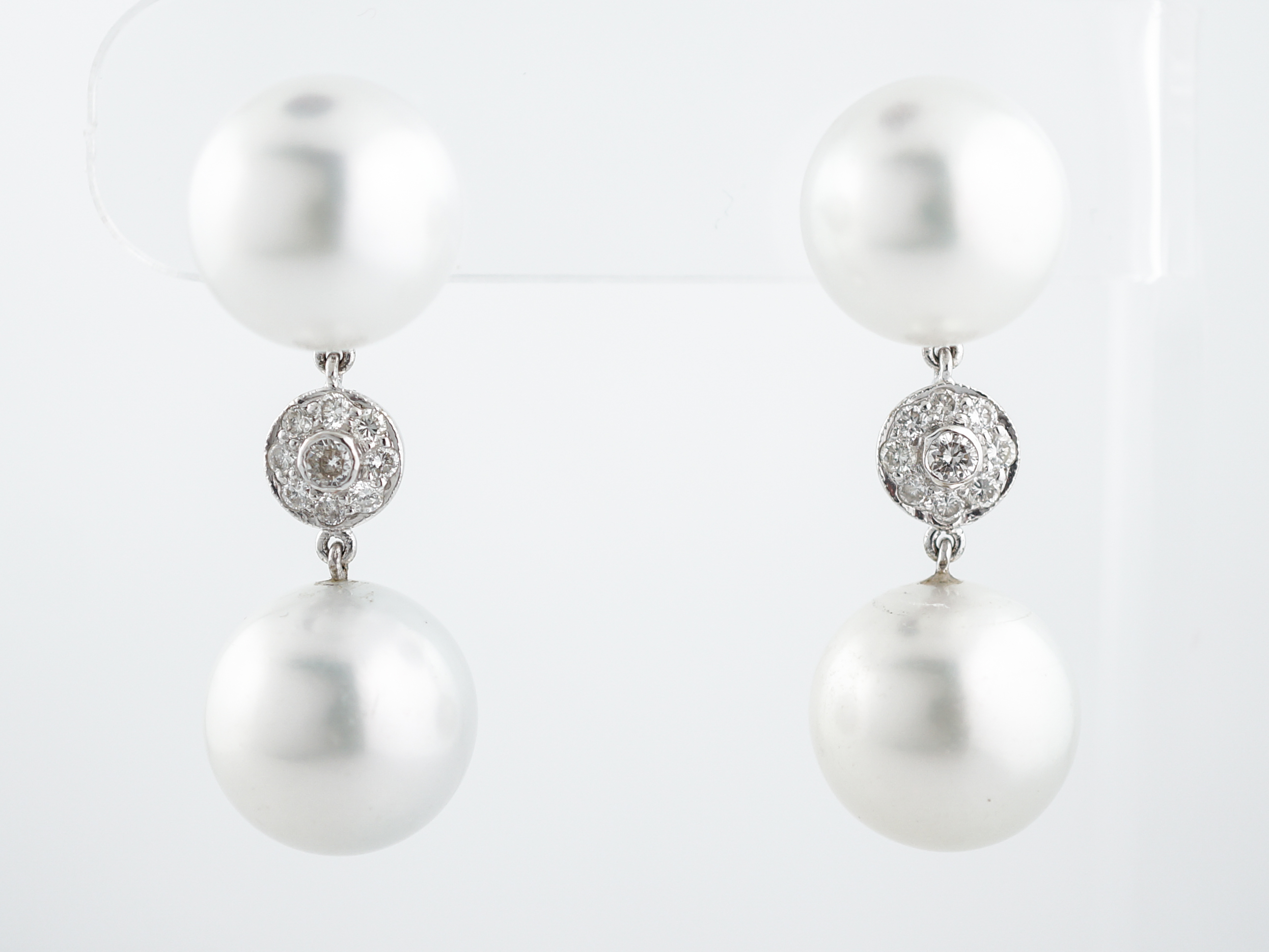 pearl drop real realreal jensen products the georg jewelry enlarged earrings sphere