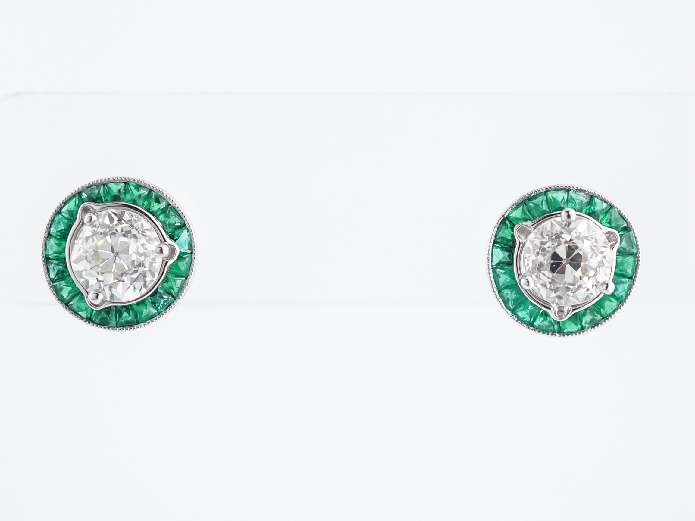 earring vfj white emeralds diamond emerald earrings diamonds jewellery gold