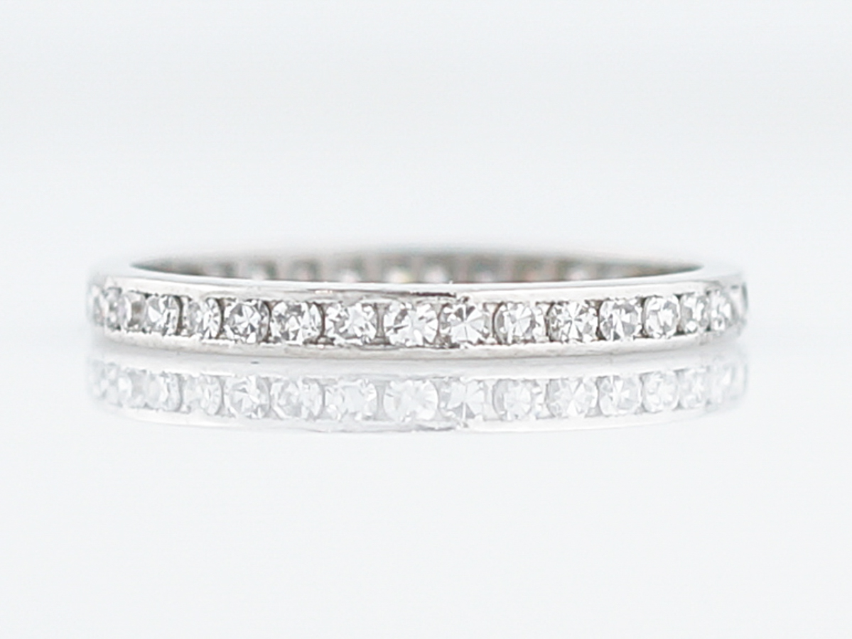 and antique baguette size round eternity band listings ring platinum bands diamond dot