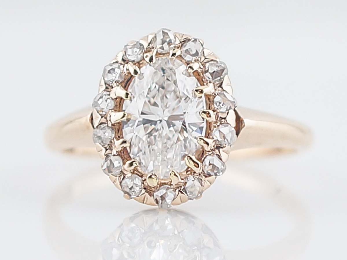 1 Carat Oval Cut Diamond Engagement Ring